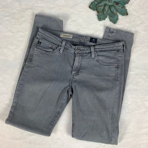 AG Adriano Goldschmied Gray Legging Ankle Jeans 27